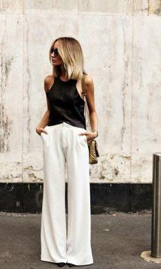 Look: Pantalona & Top de Couro