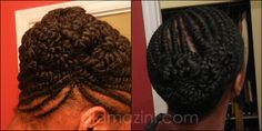 Flat Twist Updo on Natural Hair