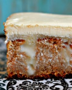 White Chocolate Carrot Poke Cake~ so simple and delicious!