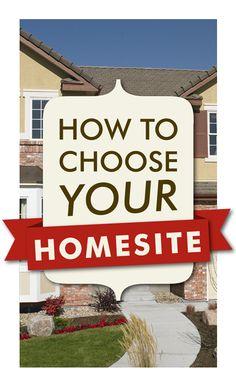 How to Choose a Homesite - Richmond American Homes' Blog