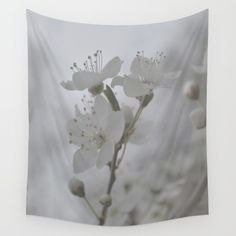 White+Blossoms++Wall+Tapestry+by+ARTbyJWP+-+$39.00