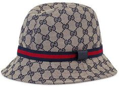fe1089506cb4c Gucci Kids  GG Supreme Canvas Bucket Hat w  Web Hat Band