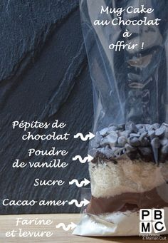 Mug cake au chocolat à offrir avec printable