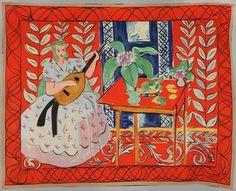 La femme au Luth, 1949, tapisserie de haute lisse, Manufacture des Gobelins