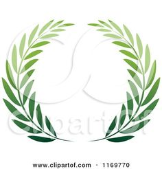 Olive branch but in heart shape