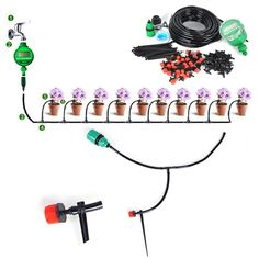 25m DIY Micro Drip Irrigation System Auto Timer Self Plant Watering – Castoponics