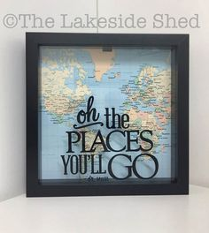 Dr Seuss Oh The Places You Will Go Adventure Fun Events Ticket - Create - Decoration Vinyl Projects, Diy Projects To Try, Craft Projects, Craft Gifts, Diy Gifts, Diy Shadow Box, Craft Show Ideas, Diy Ideas, Dollar Tree Crafts