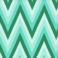 Color Me Happy 10828-13 Emerald Ikat Chevron by V & Co for Moda