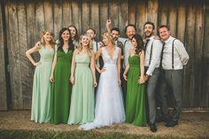 Jasmine with her bridal party on the wedding day wearing a custom Corston Couture Gown. @corstoncouture #corston #countrywedding #lace #tulle #realbride #sydneyweddingdressdesigner #sydneybridaldesigner #bridaldesigner