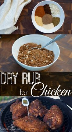 Dry Rub fo chicken is great for the grill or the smoker. Mix up a batch and use it next time you are grilling rather than using a BBQ sauce. This dry rub will easily keep in an airtight container in a pantry for months! www.leavingtherut.com