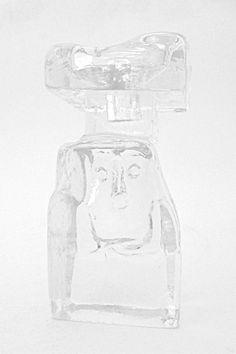 Erik Hoglund sculptural 'happy guy' candle holder