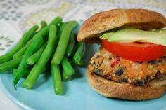 Sweet Potato Quinoa Black Bean Burgers with Cranberries by The Lean Green Bean