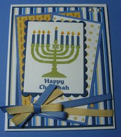 Homemade Hanukkah Menorah Cards are of beautiful blue and white colors that expresses your joy for the holiday. Hanukkah Greeting, Hanukkah Cards, Hanukkah Decorations, Hanukkah Menorah, Christmas Hanukkah, Hannukah, Happy Hanukkah, Christmas Greeting Cards, Holiday Cards