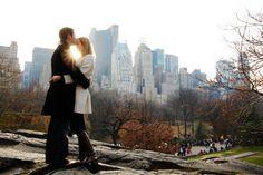 NYC Engagement session photographed by destination wedding photographer Jennifer Bowen.