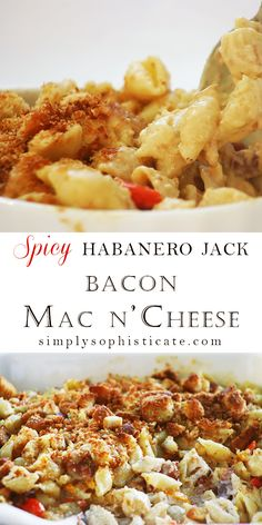 Spicy Habanero Jack Bacon Mac N' Cheese (Baking Dinner Mac Cheese) Habanero Recipes, Spicy Recipes, Pasta Recipes, Cooking Recipes, Cheese Recipes, Habanero Salsa, Pepper Recipes, Cooking Ideas, Delicious Recipes