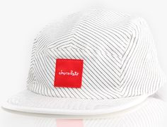 Red Square 5-Panel Hat by CHOCOLATE