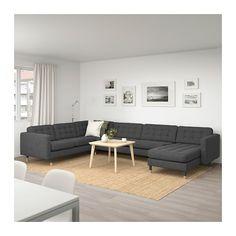 IKEA LANDSKRONA corner sofa, Removable armrests make it easy to add on a chaise longue. Landskrona Sofa, Pallet Ideas Easy, Ikea Family, Sofa Frame, Coastal Living Rooms, At Home Furniture Store, Affordable Furniture, Living Room Sofa, Sectional Sofa