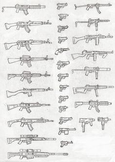 Another art of guns~ Gun 5 Tattoo Sketches, Tattoo Drawings, Art Sketches, Art Drawings, Drawing Techniques, Drawing Tips, Discret Tattoo, Rosen Tattoo Frau, Gun Art