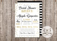 Around the Clock Invitation, Gold Shower Invitation, Confetti Shower Invitation, Polka-Dot Shower Invitation by GrabnerGraphics on Etsy https://www.etsy.com/listing/233015054/around-the-clock-invitation-gold-shower