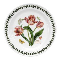 Portmeirion Botanic Garden Dinner Plates-Pink Parrot Tulip Set of 4 Portmeirion China, Portmeirion Pottery, Tulips Garden, Parrot Tulips, Dinner Plate Sets, Dinner Plates, Dinner Table, Dinner Sets, Dinner Dishes