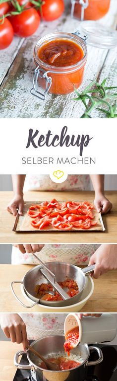 Ketchup selber machen – so funktioniert's - Recetas Burger Recipes, Grilling Recipes, Cooking Recipes, Vegan Smoothies, Smoothie Recipes, Chutneys, Yummy Food, Tasty, Diy Food