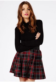Add a feminine touch to your winter wardrobe with one of these gorgeous skirts from Missguided… Skater Skirt, Dress Skirt, Winter Wardrobe, Missguided, Tartan, Feminine, Style Inspiration, Seasons, Skirts
