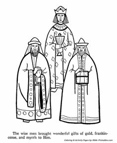 the birth of jesus coloring pages the three wise men