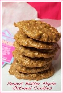 Peanut Butter Maple Oatmeal Cookie Stack