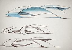 scale speedform constructed out of clay, designed for oceanic cities of the future. Car Design Sketch, Car Sketch, Cool Sketches, Drawing Sketches, Sketching, Architecture Concept Drawings, Architecture Design, Speed Form, Boat Design