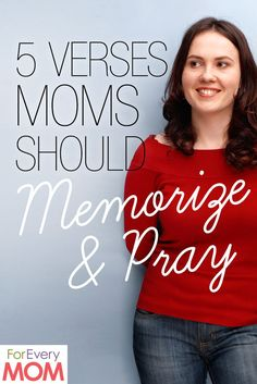 Part of being a mom is fighting spiritual battles for our kids through prayer while they're young. Here are 5 awesome verses to memorize and pray for our kiddos.