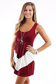 4th And Short Dress, crimson/wh Need in maroon