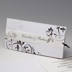 """Einladungskarte """"Lavina"""" - trendige Hochzeitseinladung"""