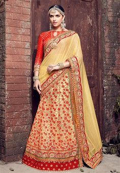 Shop light beige lycra,net lehenga style saree , freeshipping all over the world , Item code Latest Saree Blouse, Latest Sarees, Saree Blouse Designs, Party Wear Sarees Online, Silk Sarees Online, Trendy Sarees, Fancy Sarees, Lehenga Style Saree, Lehenga Choli