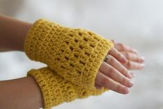 Crochet Wrist Warmers, just finished up on these in an off white color, love em they are so cool...