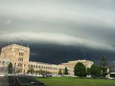 A storm rolls in over UQ