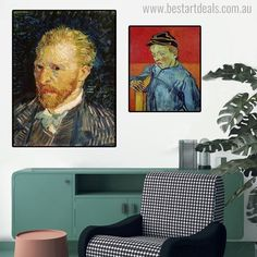 Wall Art Poster Prints on Canvas, Van Gogh Famous Abstract Portrait Canvas Paintings for Living Room Wall Home Decor No Frame Abstract Portrait Painting, Abstract Wall Art, Figure Painting, Painting Prints, Wall Art Prints, Poster Prints, Canvas Prints, Canvas Paintings, Van Gogh Prints