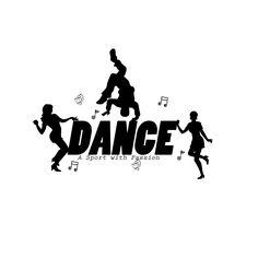 Dance, word art for shop design.