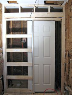 how to install pocket door