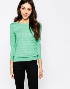 Stitch Slash Neck Sweater