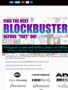 Calling All Writers and Producers!!! Register Today!!!