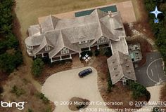 Aerial view of the $15,000,000 Hamptons home from Something's Gotta Give