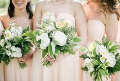 Romantic Pennsylvania Wedding at Fairmount Park Horticulture Center Pink Wedding Theme, Wedding Colors, Wedding Decor, Bridesmaid Bouquet, Wedding Bouquets, Wedding Flowers, Fern Bouquet, Wedding Planning Websites, Wedding Trends