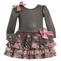 Bonnie Jean NEWBORN / INFANT 3M-24M 2-Piece GREY PINK Glitter Knit to Mix Print Tiers Drop Waist Special Occasion Holiday Party Dress Bonnie Jean, http://www.amazon.com/dp/B009JGOKLQ/ref=cm_sw_r_pi_dp_MvKEqb1W54ZSH