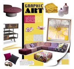 """Boho Chic+Graphic Art"" by fl4u ❤ liked on Polyvore featuring interior, interiors, interior design, home, home decor, interior decorating, NARS Cosmetics, Gaudì, Anna Sui and Muuto"