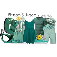 In The Little Mermaid they may be evil, but in these Flotsam & Jetsam outfits you will look great.