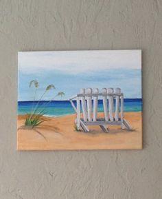 Beach scene -acrylic