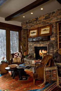 Stone Fireplace. by nadine