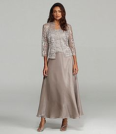 KM Collections Woman Lace Jacket Dress #Dillards