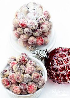 boozy sparkling cranberries - bake.love.give.
