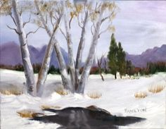 Paint Along with Larry Hamilton - Feb-19-2014-White Birch Trees in Winte...